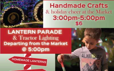 Holiday crafts & tractor lighting at Light the Farm!