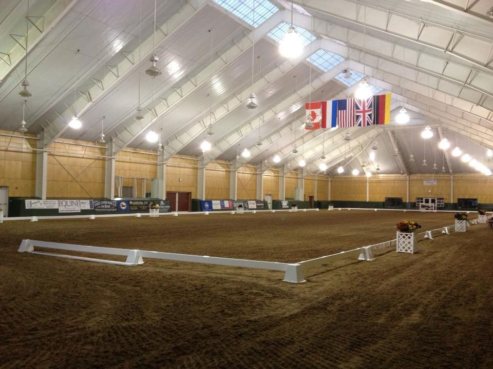 Pineland Farms Indoor Arena with Banners