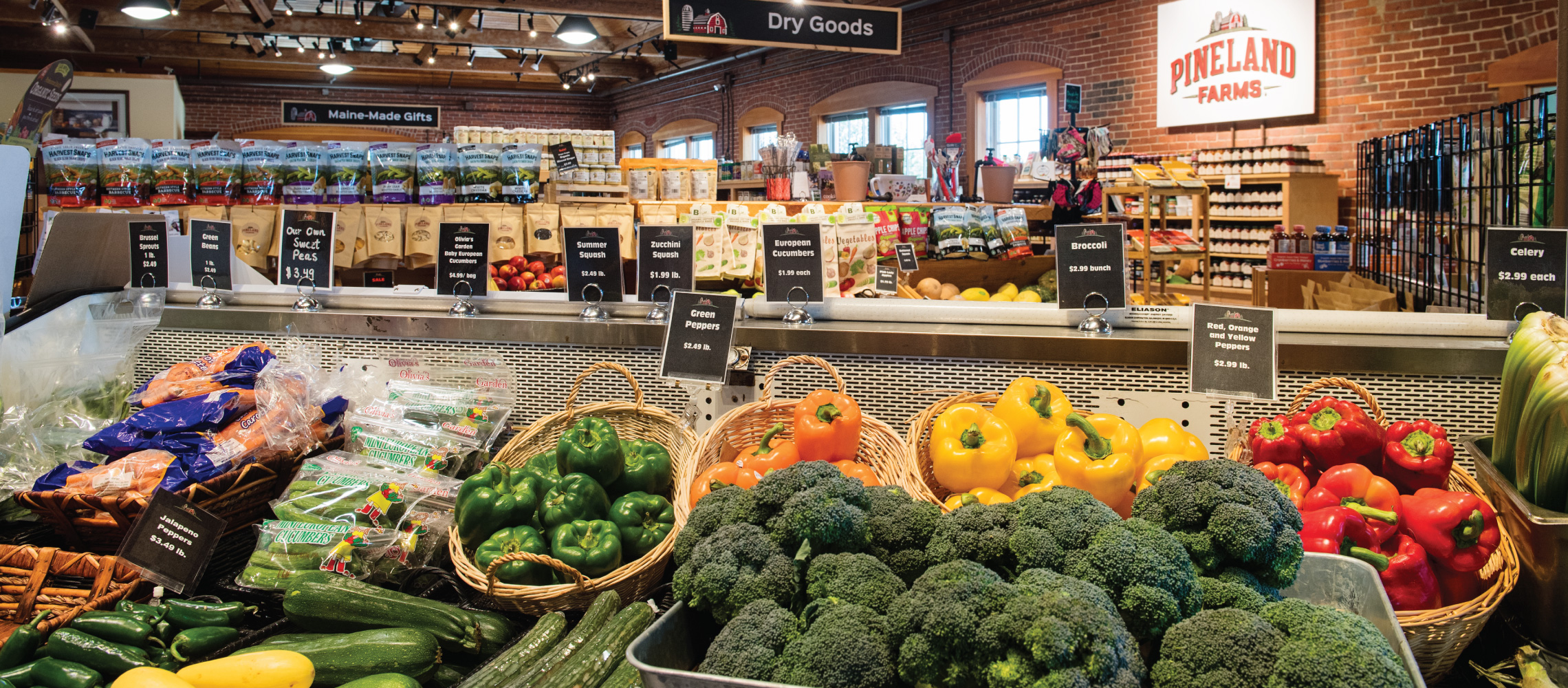 market grocery produce pineland farms new gloucester maine