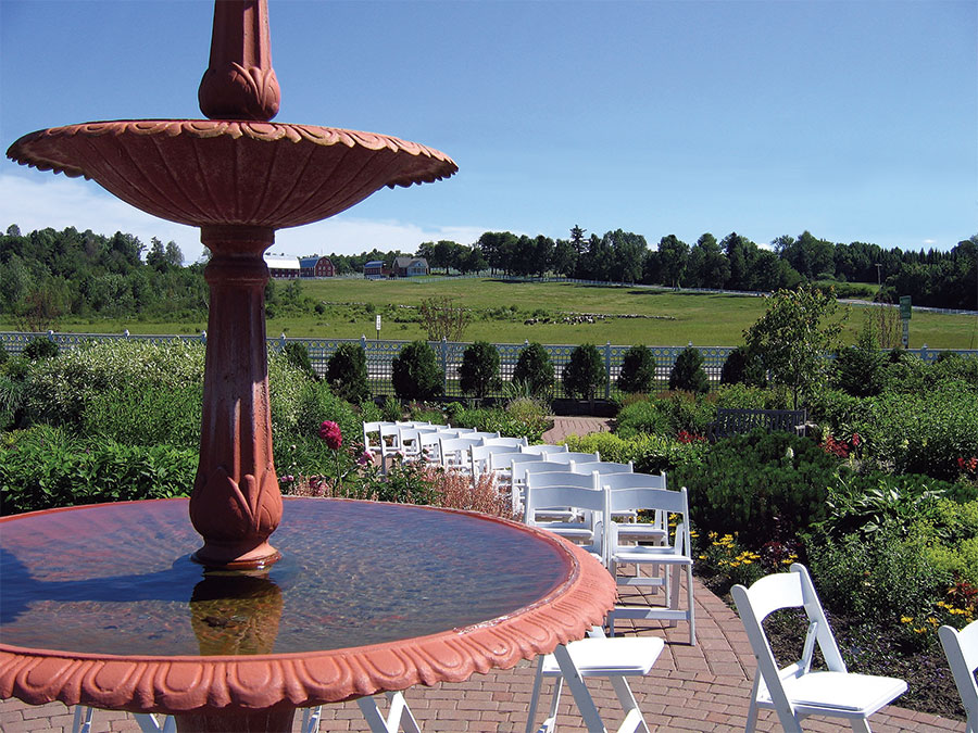 Pineland Farms' Garden Fountain
