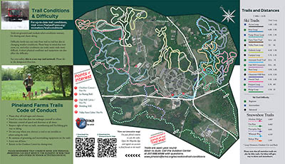 Pineland Farms Trail Map